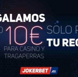 UNA DE LAS NUEVAS WEBS DEL MERCADO TE REGALAN 10€ PARA CASINO || JOKERBET