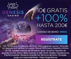 Bono sin dep?sito y bono de bienvenida de GenesisCasino